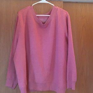 Pink sweatshirt. Size 4x.